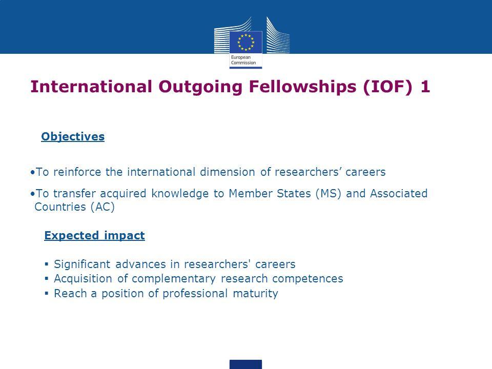International Outgoing Fellowships (IOF) 1