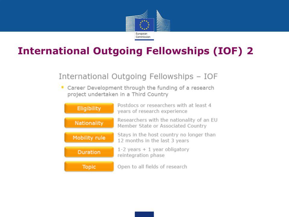International Outgoing Fellowships (IOF) 2