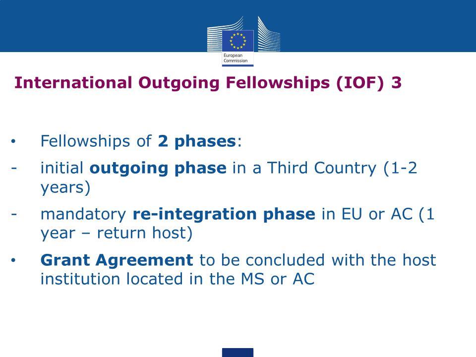 International Outgoing Fellowships (IOF) 3