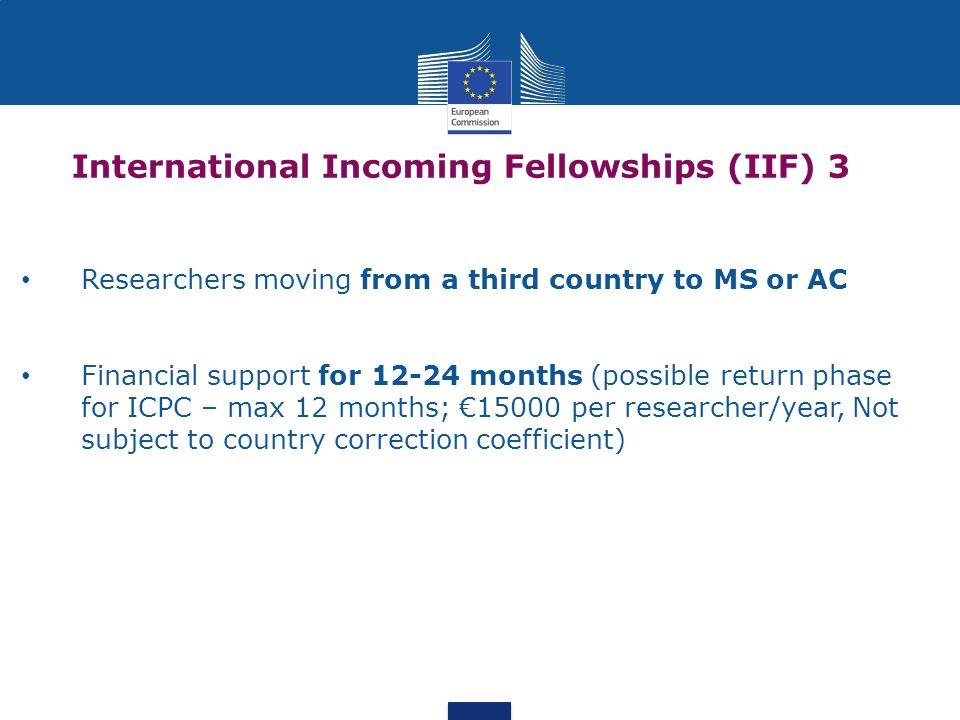 International Incoming Fellowships (IIF) 3