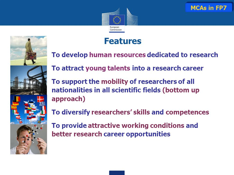 Features To develop human resources dedicated to research