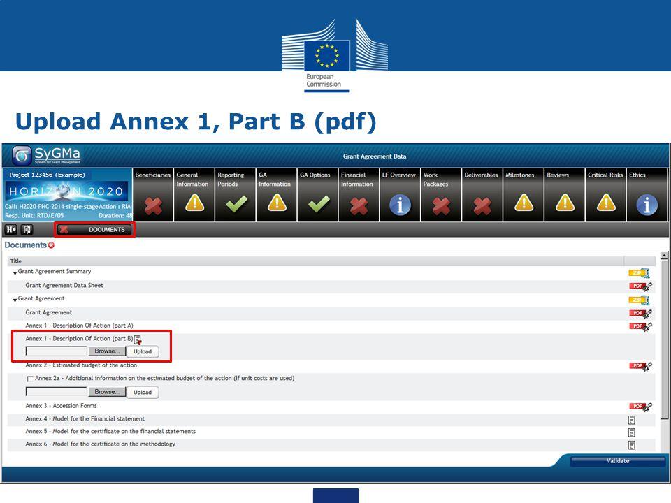 Upload Annex 1, Part B (pdf)
