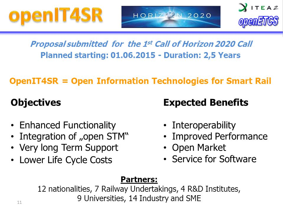 """openIT4SR Objectives Enhanced Functionality Integration of """"open STM"""