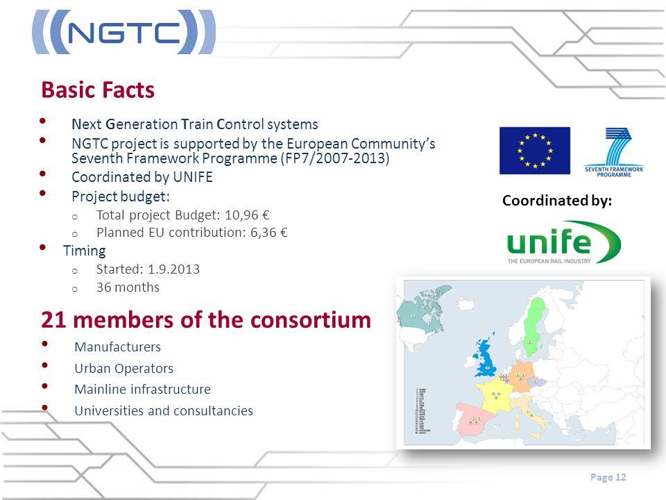 21 members of the consortium