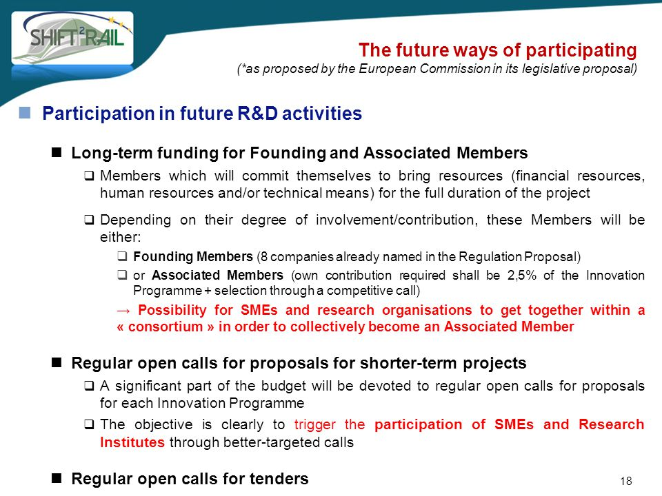 Participation in future R&D activities