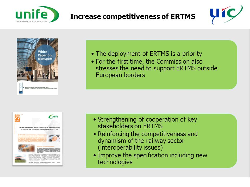 Increase competitiveness of ERTMS