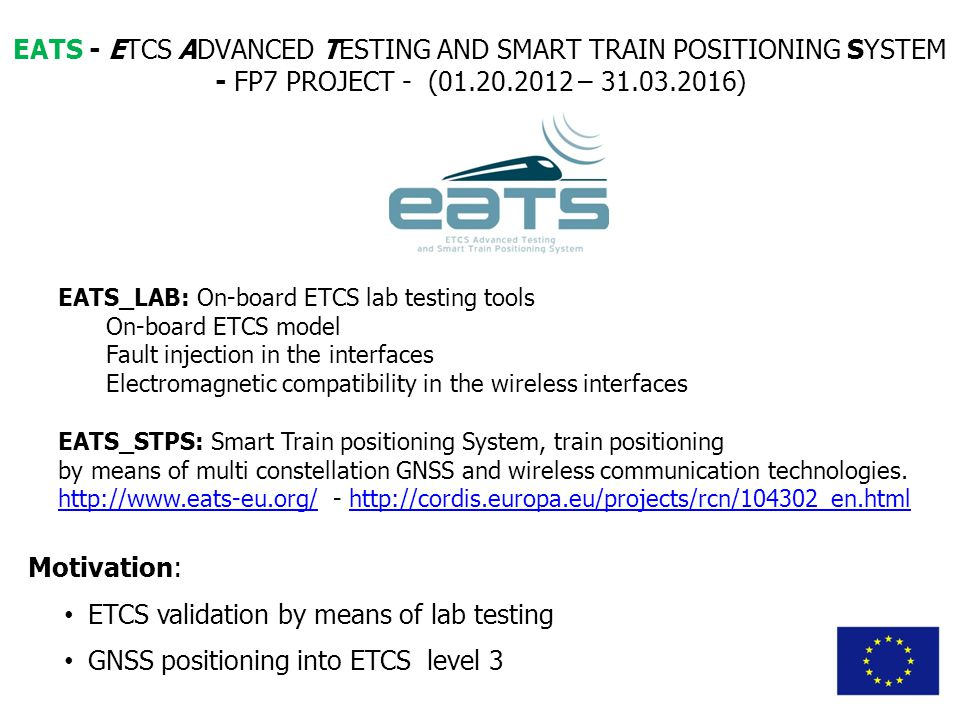 ETCS validation by means of lab testing