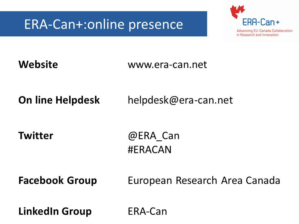 ERA-Can+:online presence