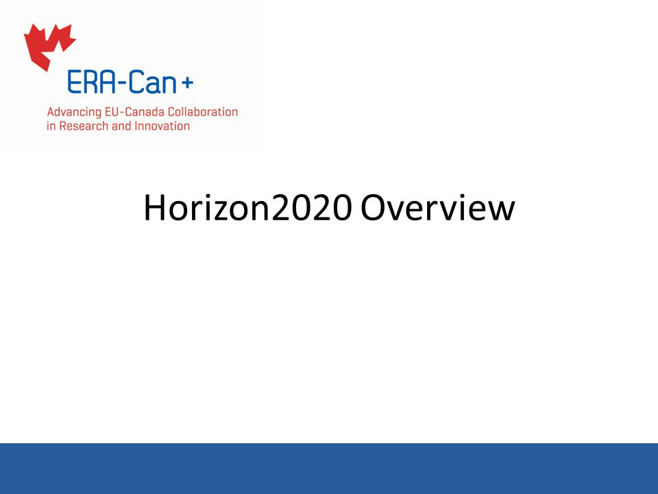 Horizon2020 Overview
