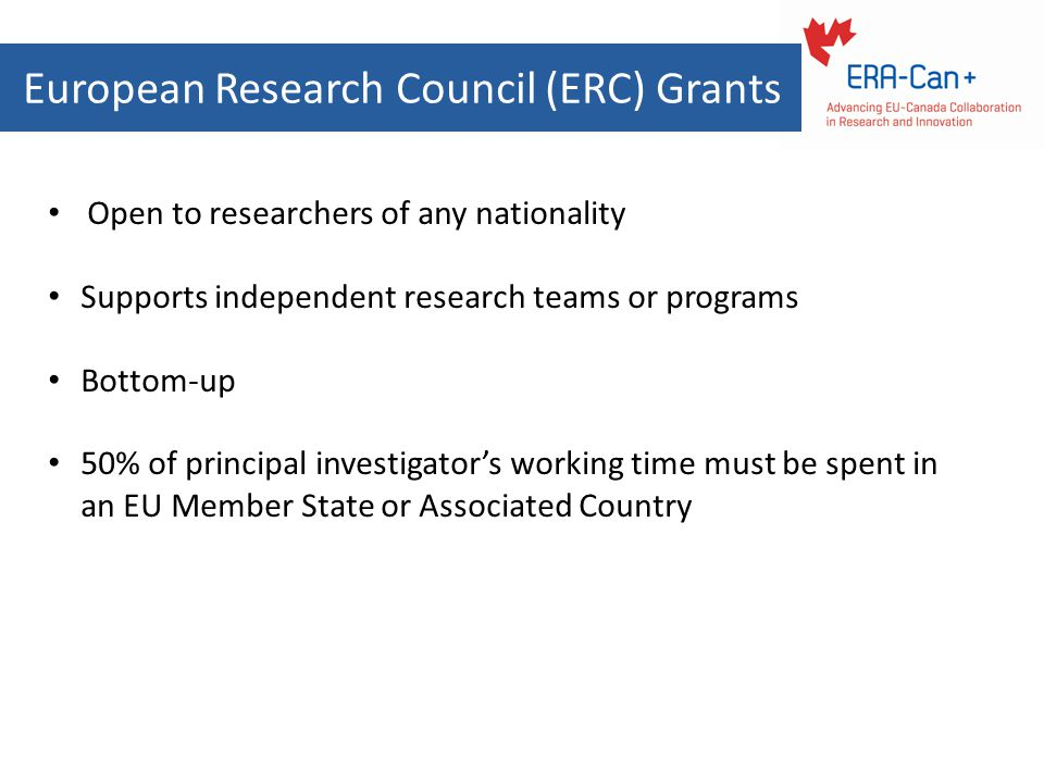 European Research Council (ERC) Grants
