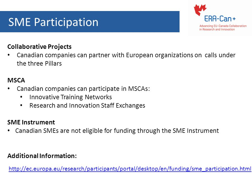 SME Participation Collaborative Projects