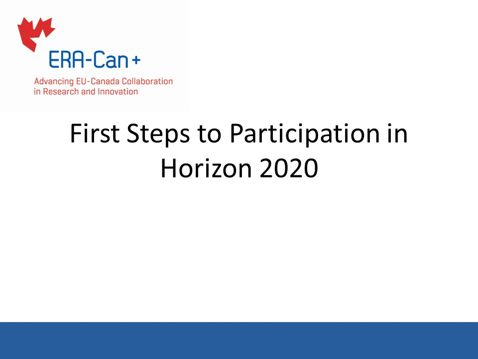 First Steps to Participation in Horizon 2020