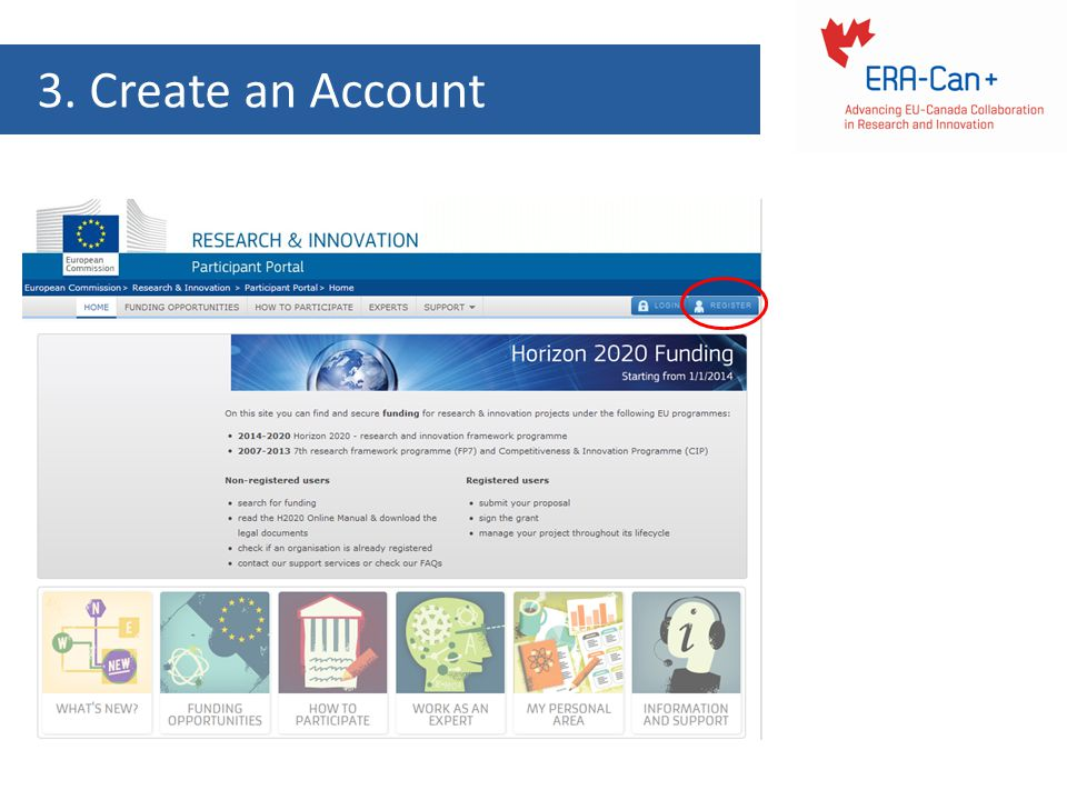 3. Create an Account