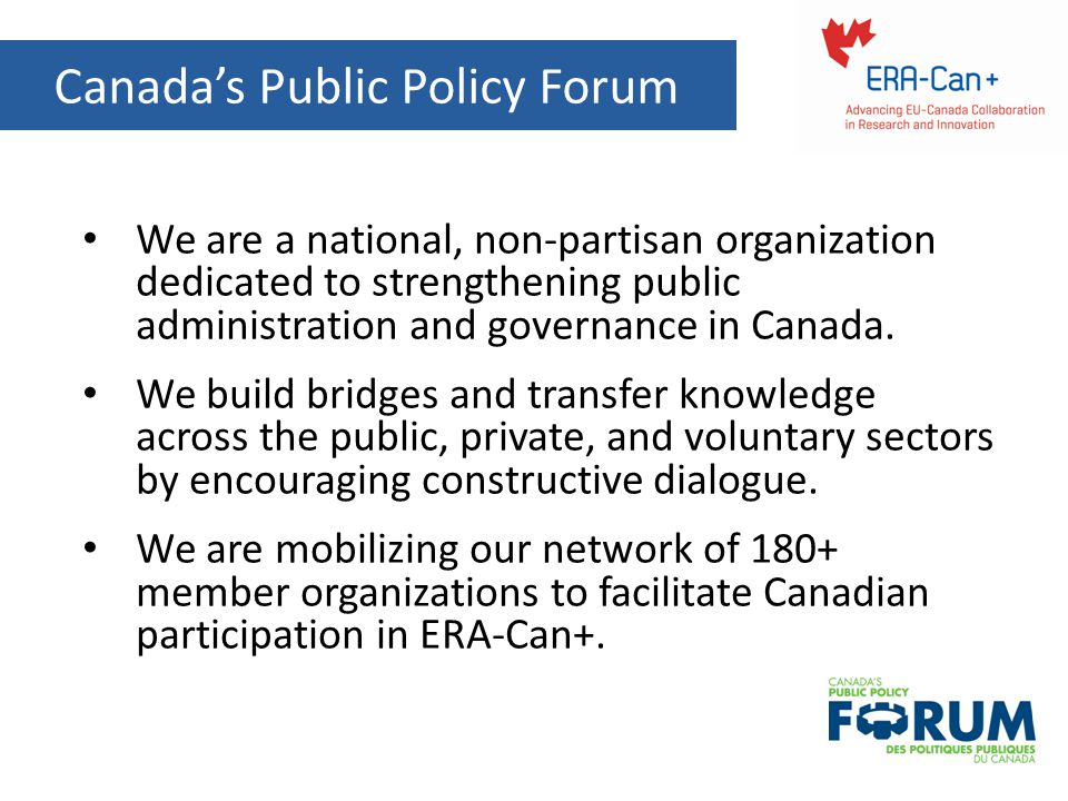 Canada's Public Policy Forum