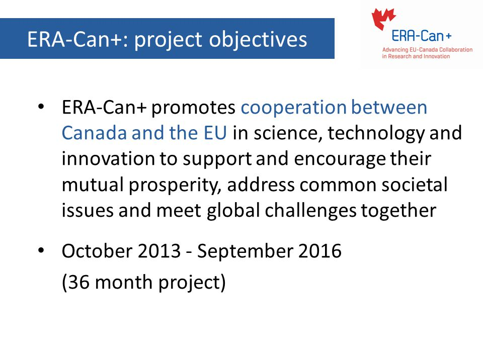 ERA-Can+: project objectives