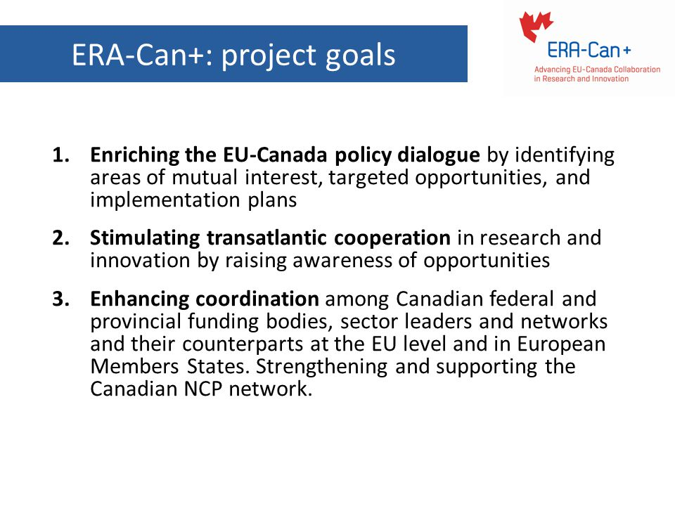 ERA-Can+: project goals