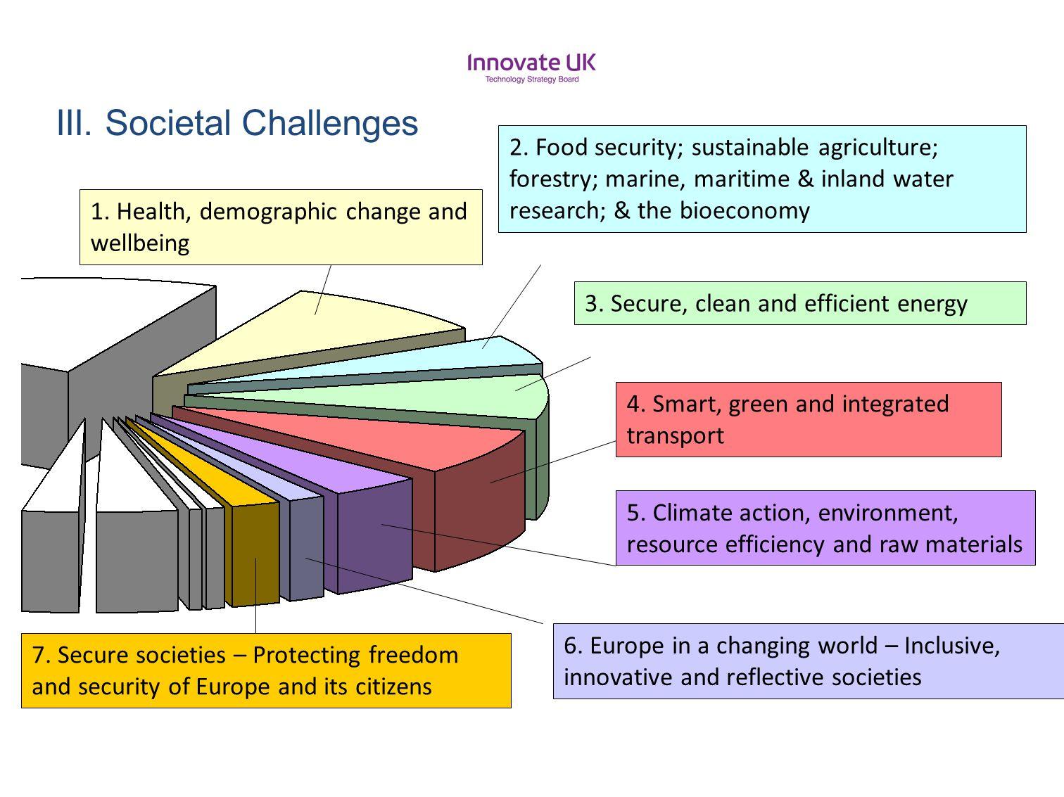 III. Societal Challenges