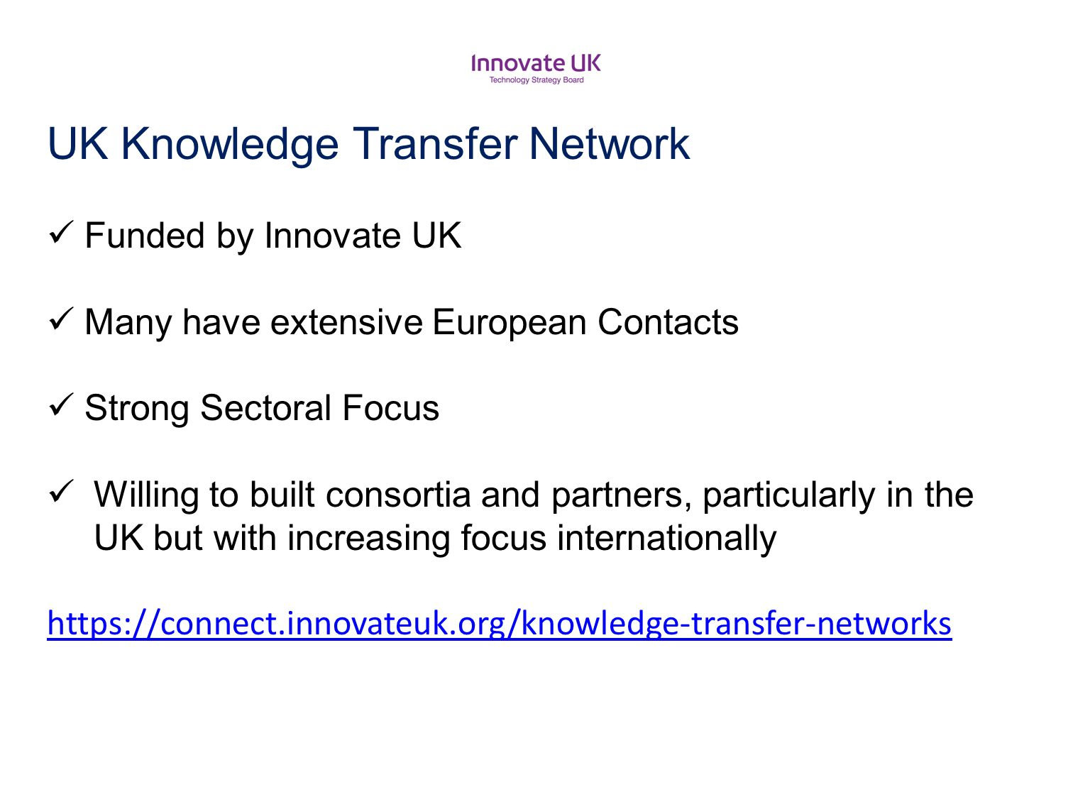 UK Knowledge Transfer Network