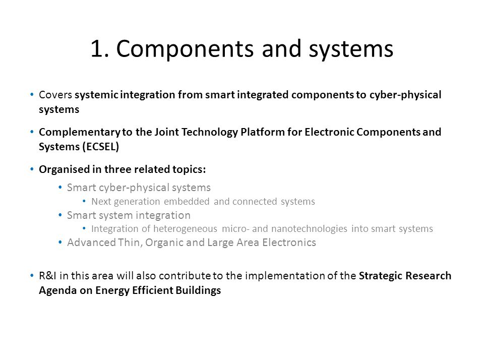 1. Components and systems