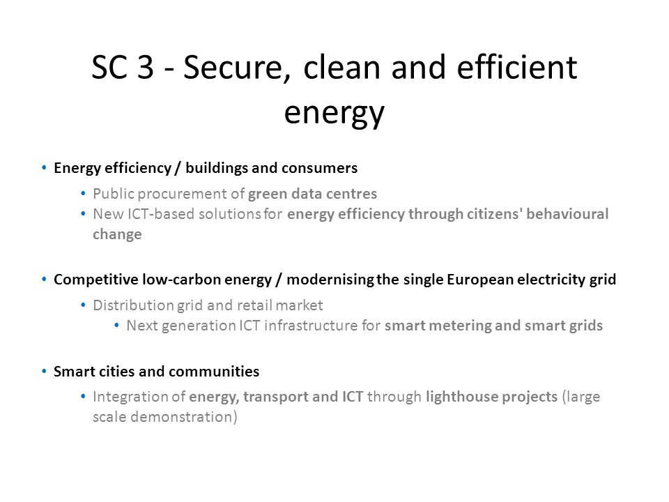 SC 3 - Secure, clean and efficient energy