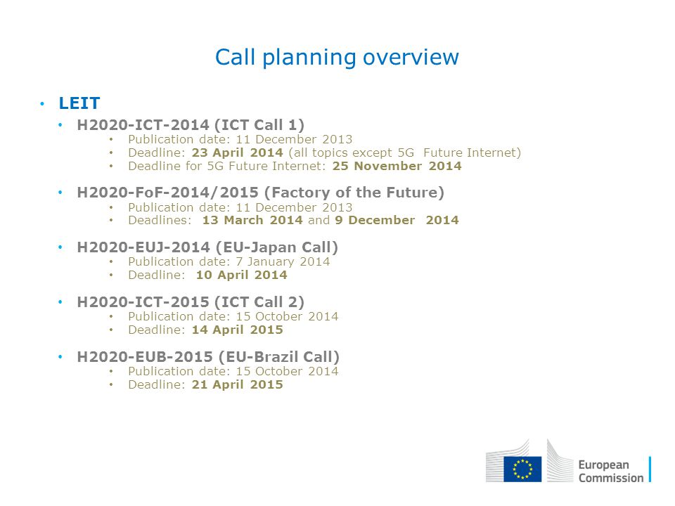 Call planning overview