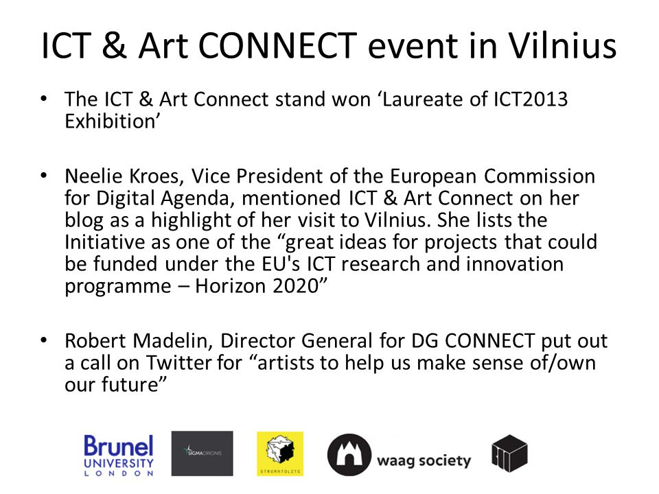 ICT & Art CONNECT event in Vilnius