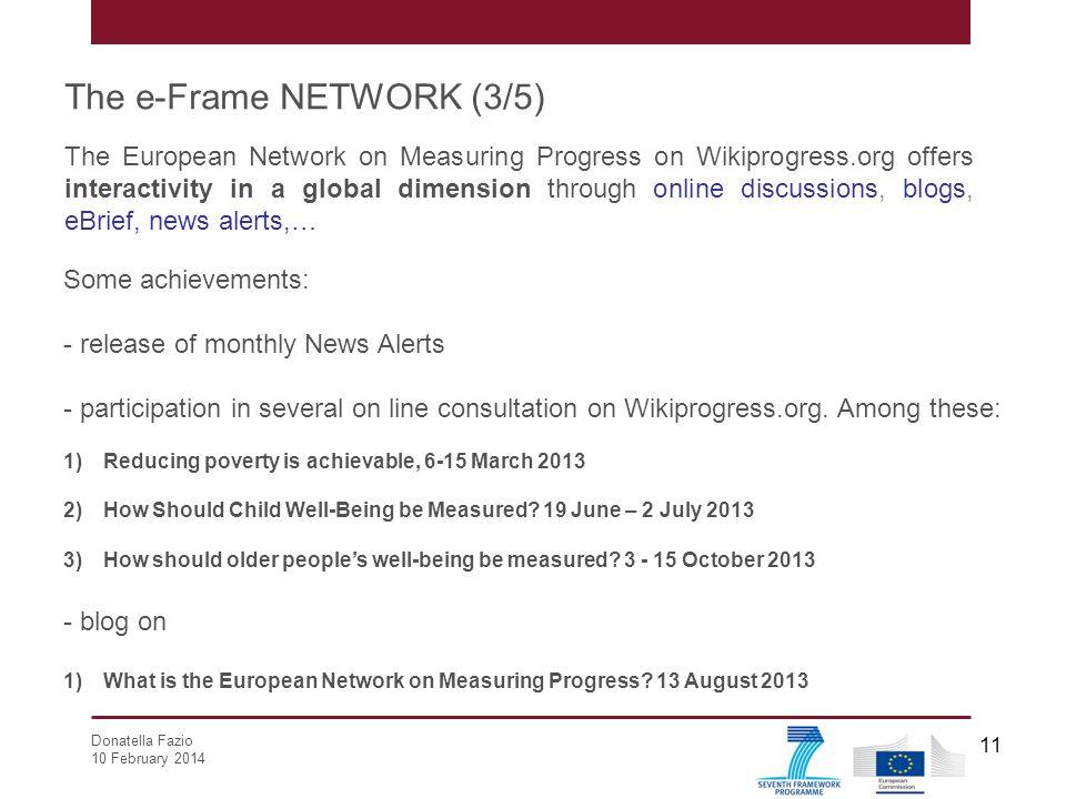 The e-Frame NETWORK (3/5)