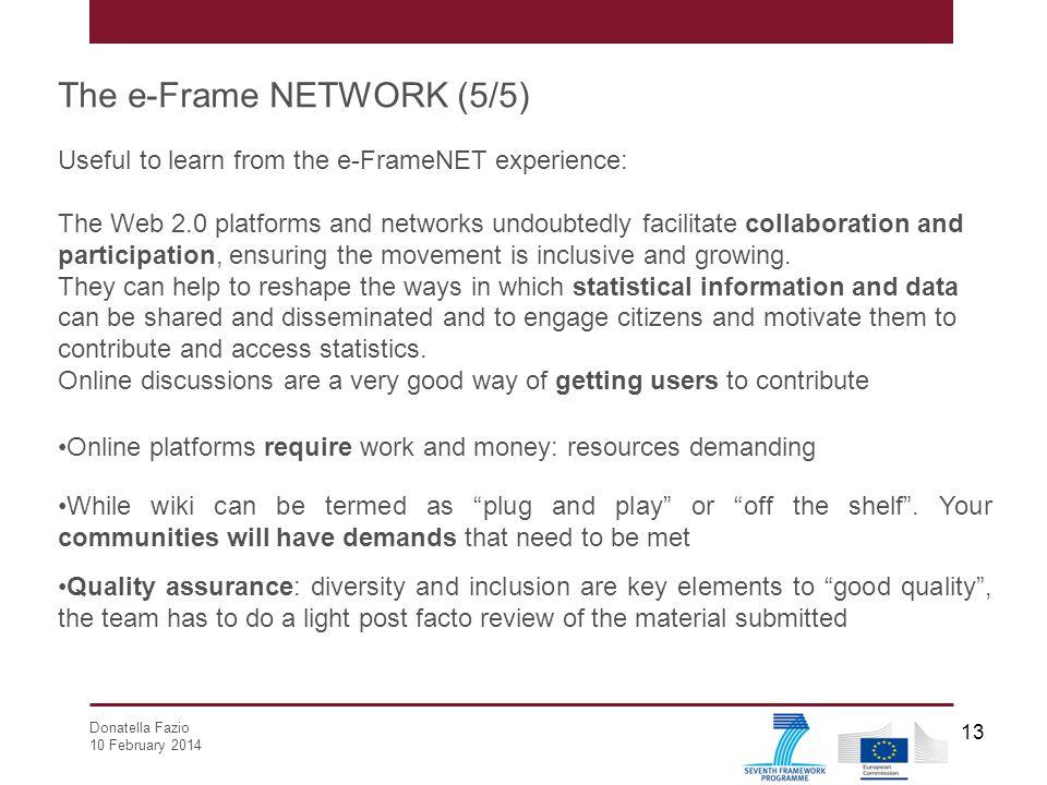 The e-Frame NETWORK (5/5)