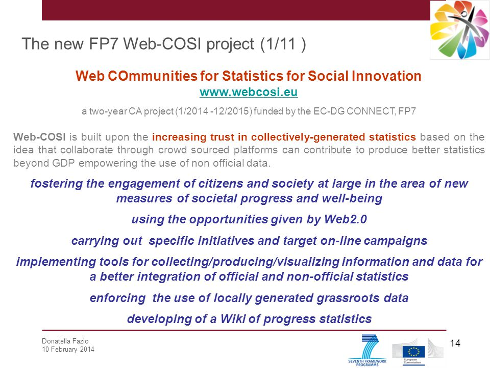 The new FP7 Web-COSI project (1/11 )