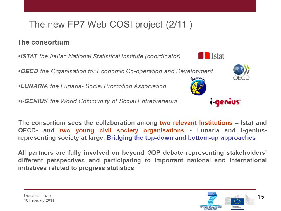 The new FP7 Web-COSI project (2/11 )