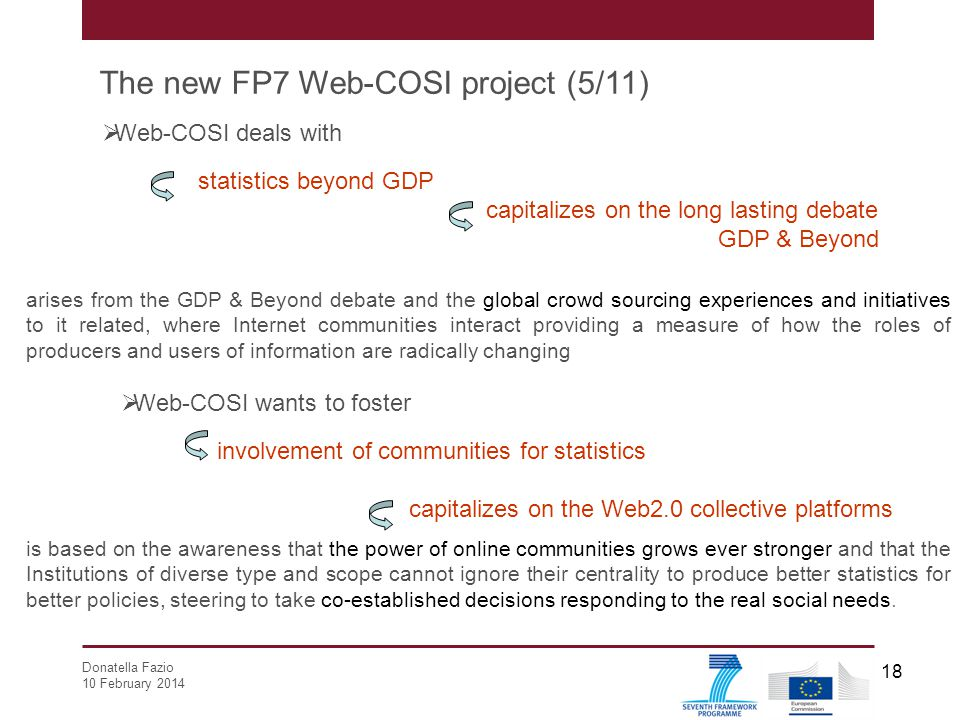 The new FP7 Web-COSI project (5/11)