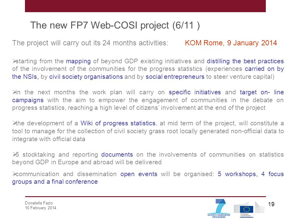 The new FP7 Web-COSI project (6/11 )