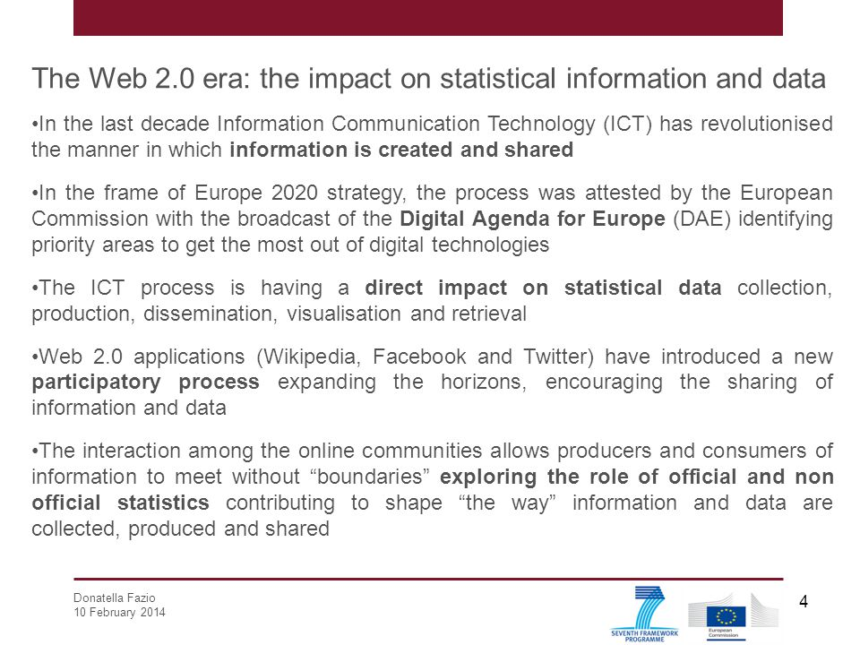 The Web 2.0 era: the impact on statistical information and data