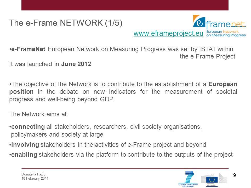 The e-Frame NETWORK (1/5) www.eframeproject.eu