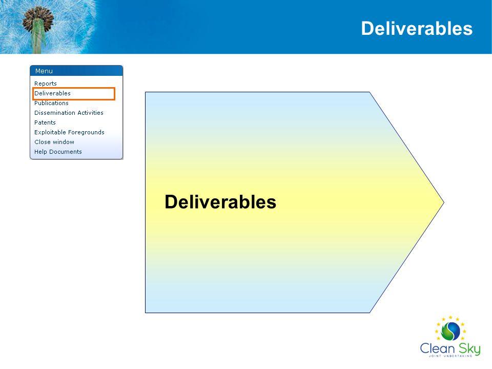 Deliverables Deliverables