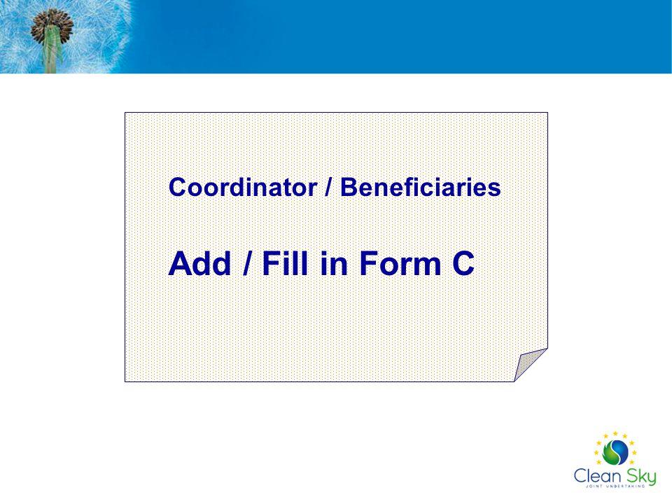 Coordinator / Beneficiaries