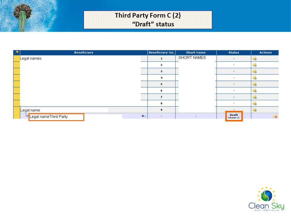 Third Party Form C (2) Draft status