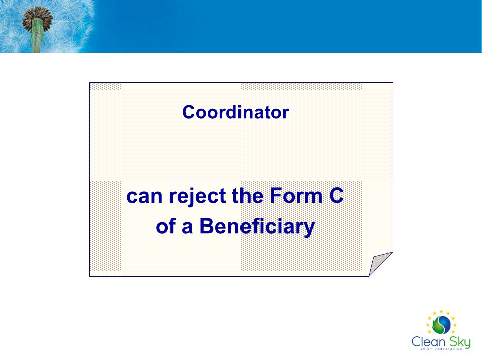 can reject the Form C of a Beneficiary