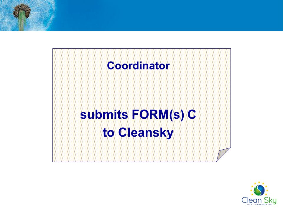 submits FORM(s) C to Cleansky