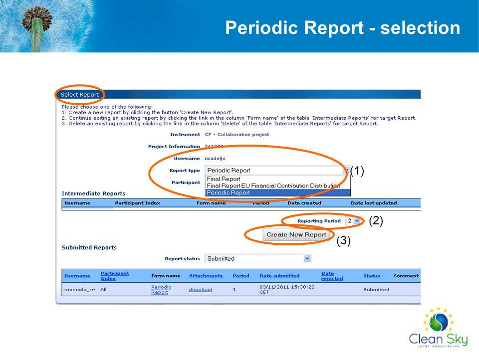 Periodic Report - selection