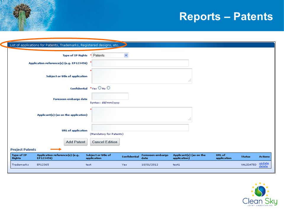Reports – Patents