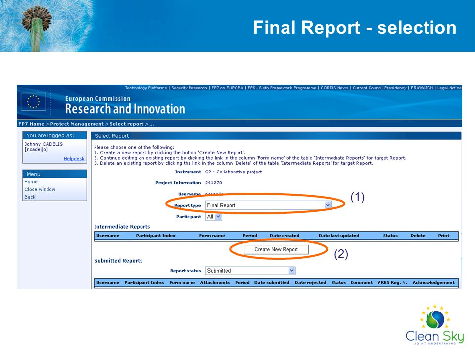 Final Report - selection