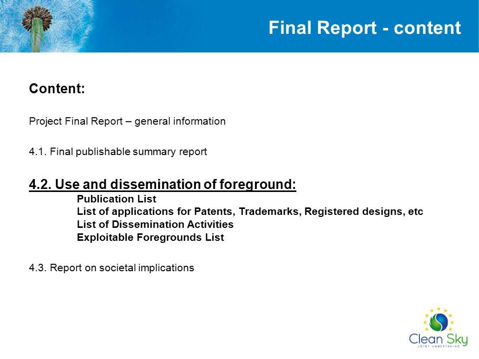Final Report - content Content: