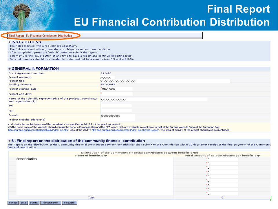 Final Report EU Financial Contribution Distribution