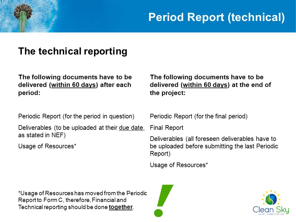 Period Report (technical)