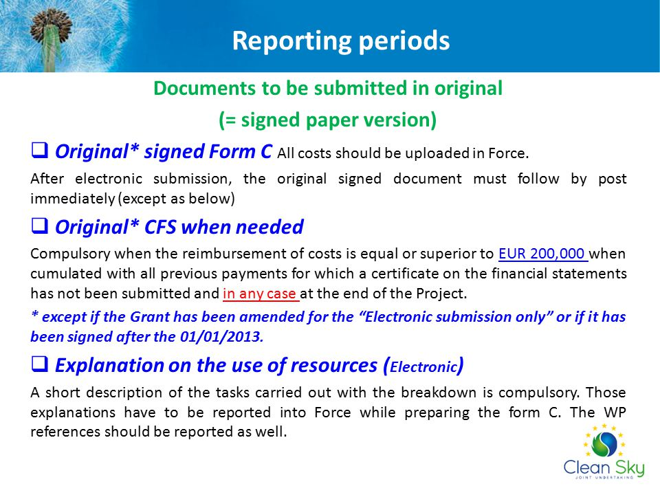 Documents to be submitted in original
