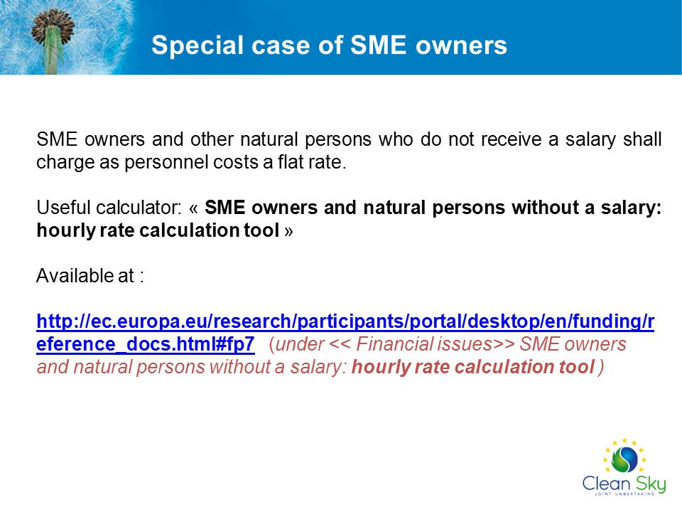 Special case of SME owners
