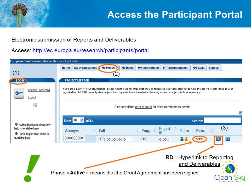 Access the Participant Portal
