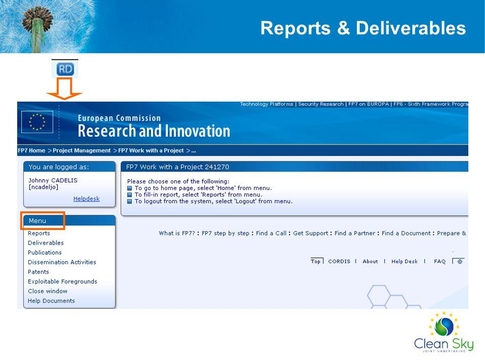 Reports & Deliverables