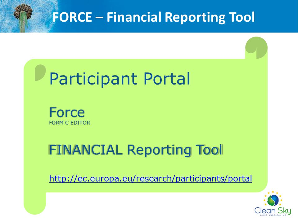 FORCE – Financial Reporting Tool